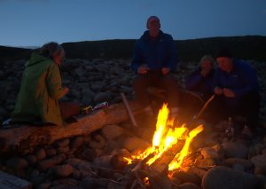 Campfire on Harris beach, Rum